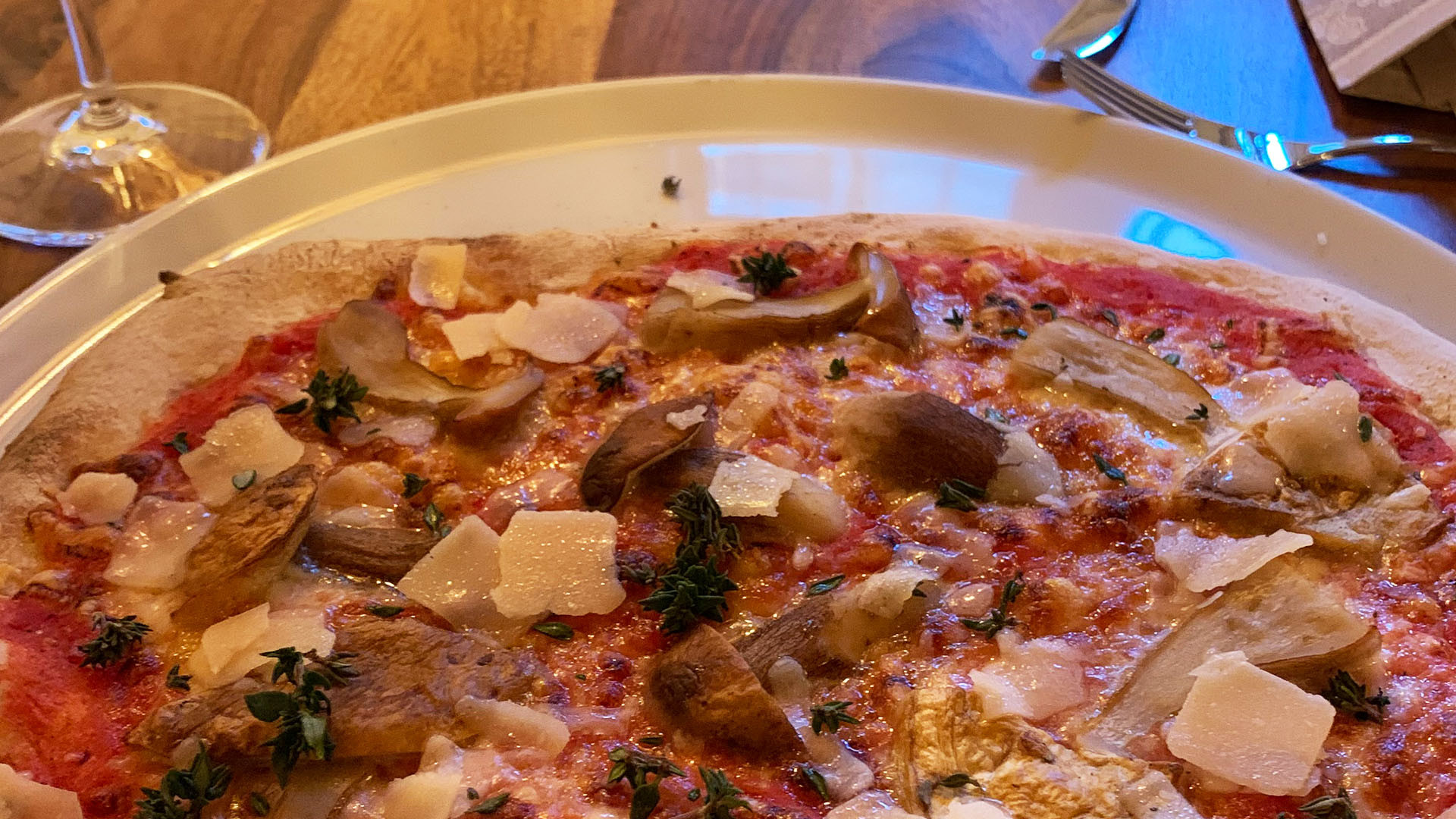 Pizza essen in Wangen