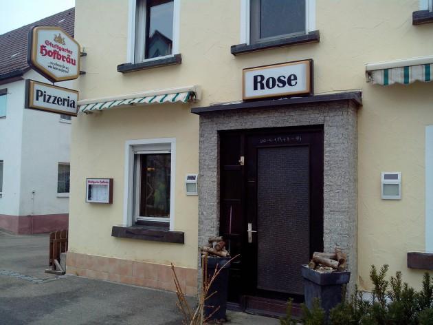 Pizzeria Rose: Hier noch einmal unsere Außenansicht