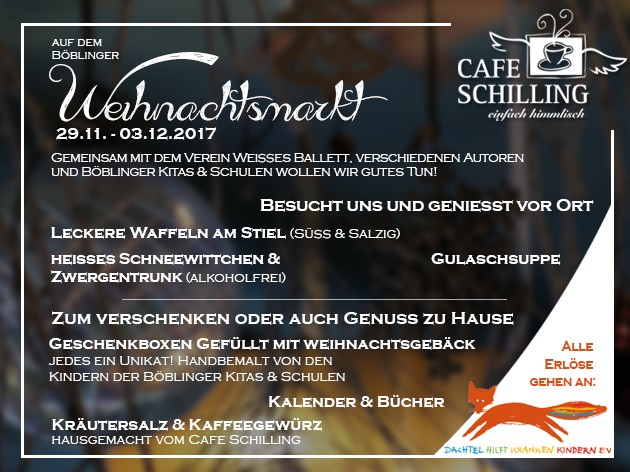 Cafe Schilling: Wir sind auf dem Böblinger Weihnachtsmarkt