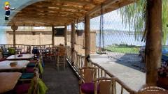 Georg's Fischerhütte auf der Insel Reichenau - mit Blick auf den Bodensee