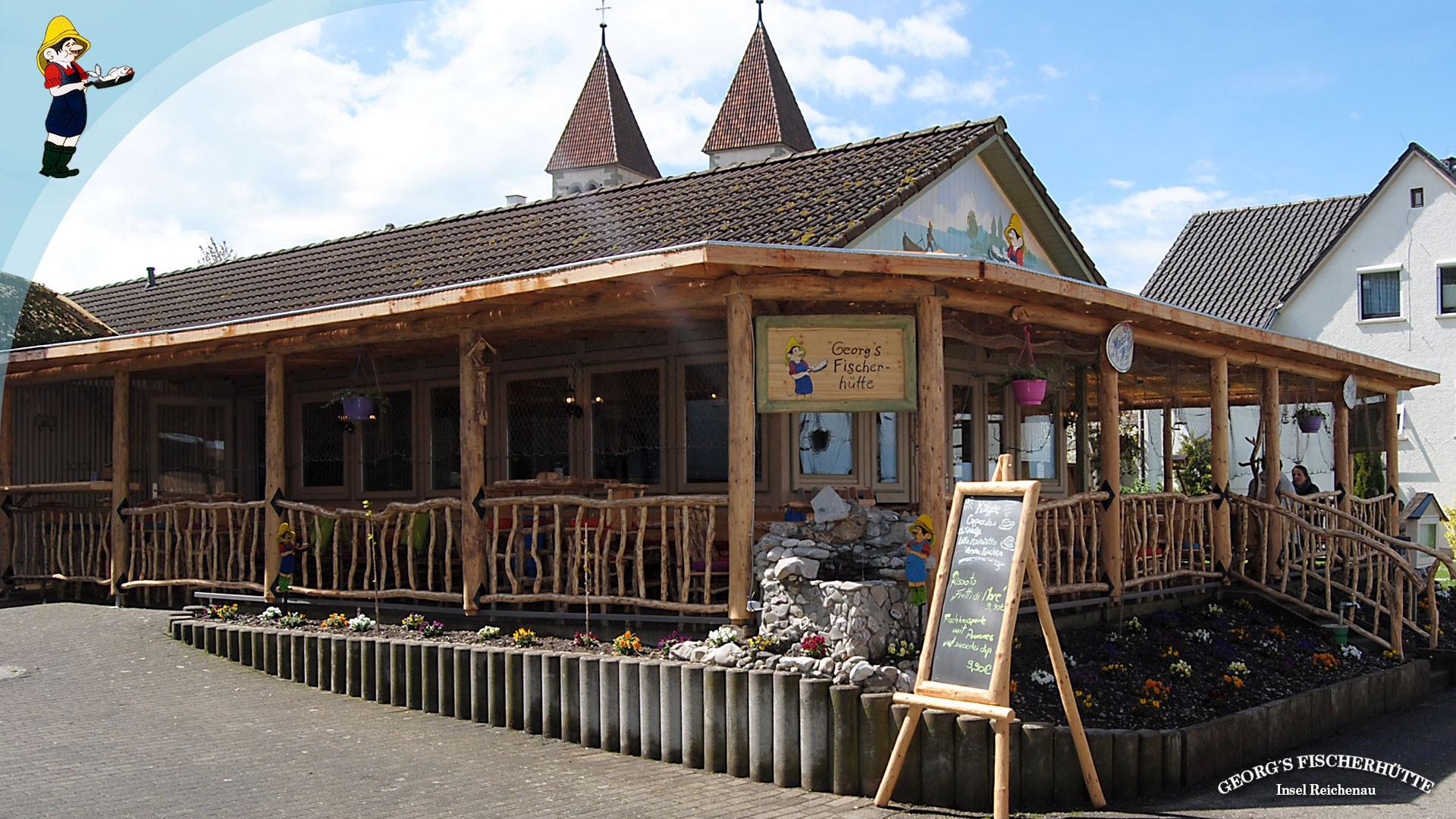 Georg's Fischerhütte, Reichenau - bei Sankt Peter und Paul: Fischrestaurant mit großer Terrasse und Seeblick