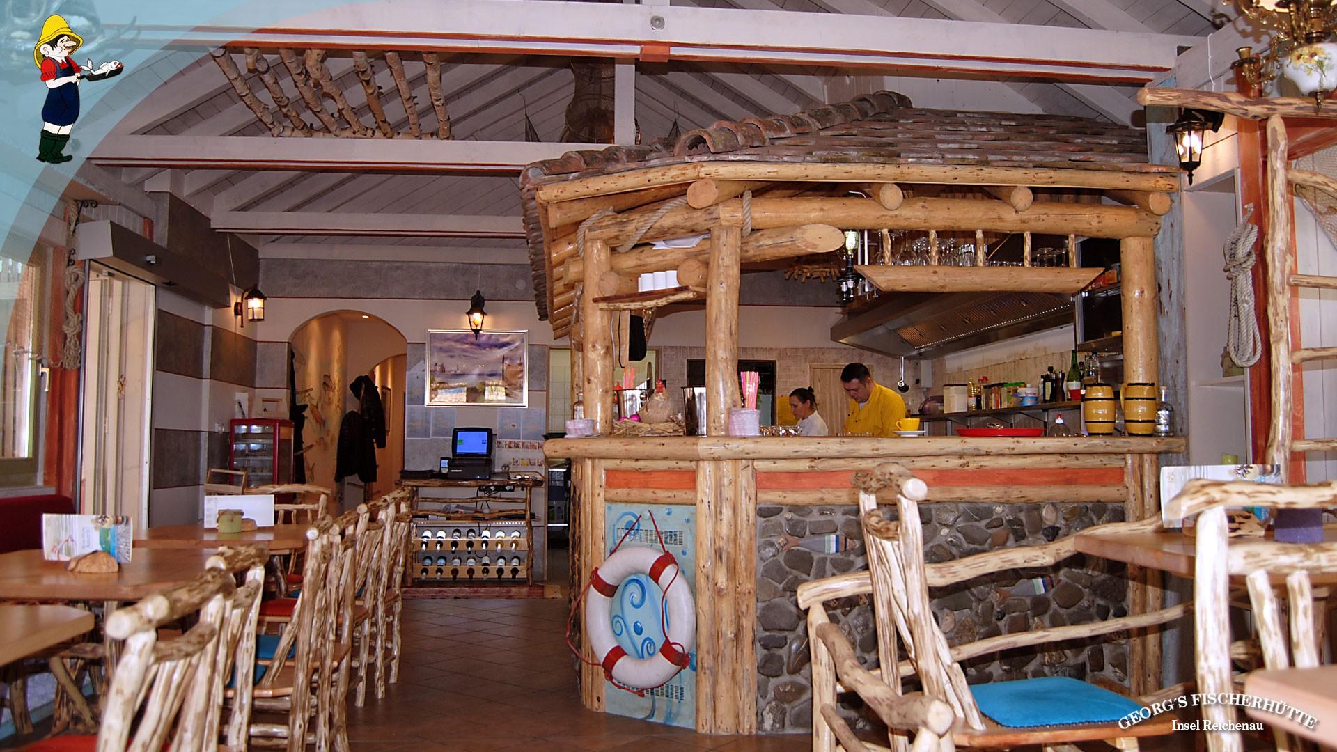 Georg's Fischerhütte, Konstanz-Reichenau: Frischfisch-Angebot nach Fang im neu eröffneten Bodensee-Fisch-Restaurant