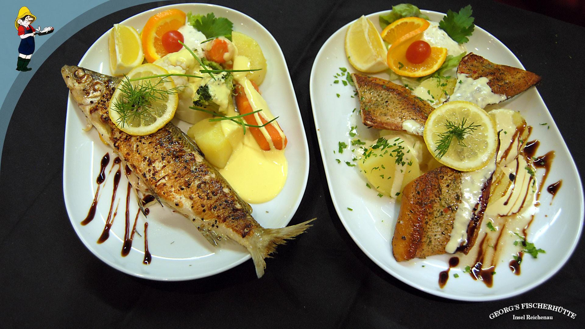 Georg's Fischerhütte: Ganzer Krezter/ Barsch/ Egli-Fisch oder als Fisch-Filets
