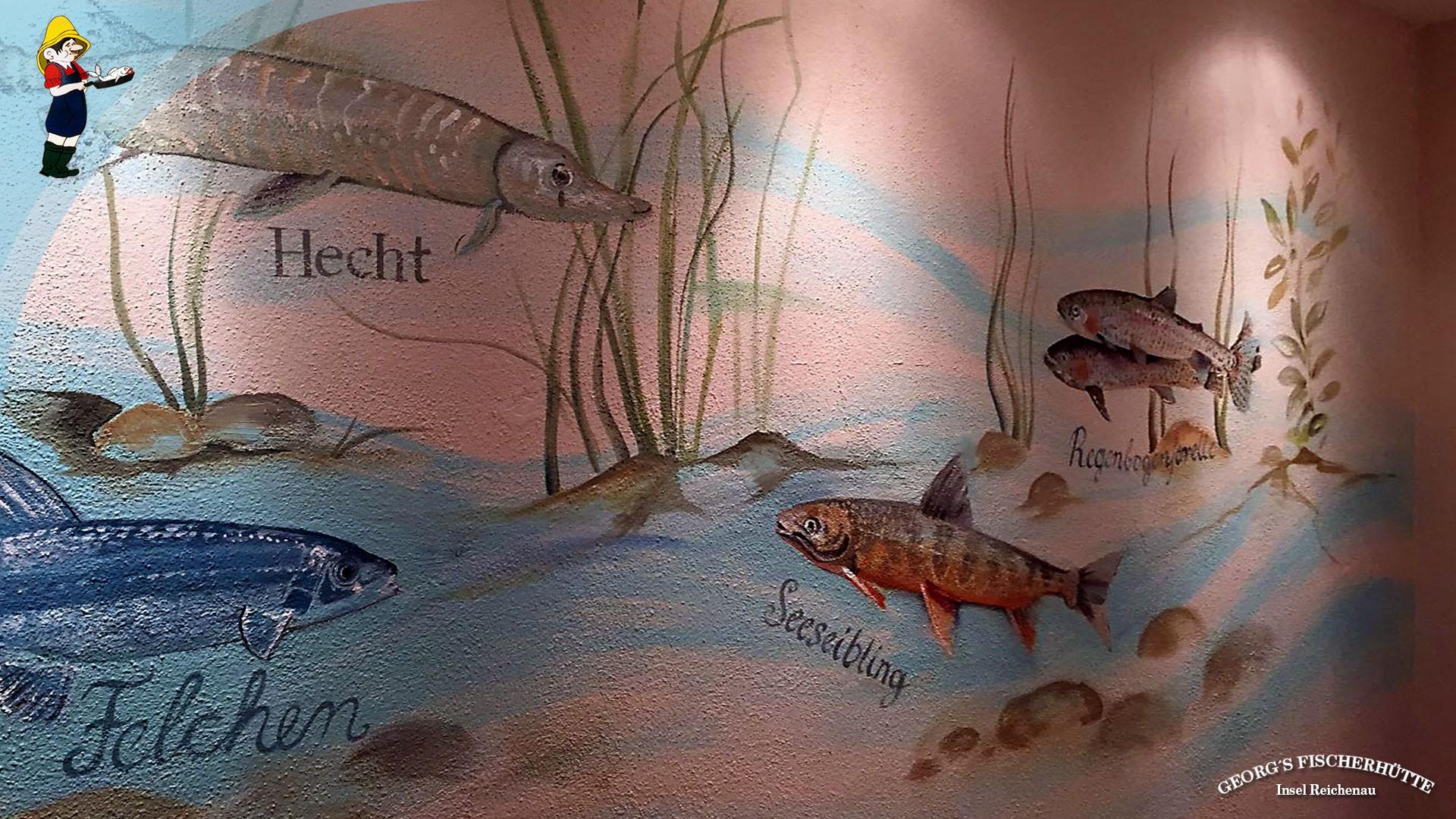 Fisch-Restaurant Georg's Fischerhütte, Konstanz, Insel Reichenau: Bodenseefische